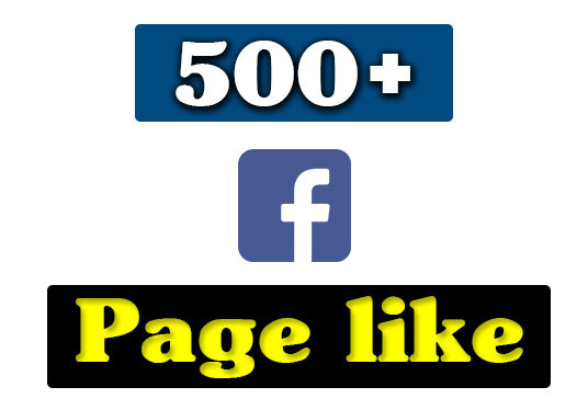 provide 500+ facebook fan page like