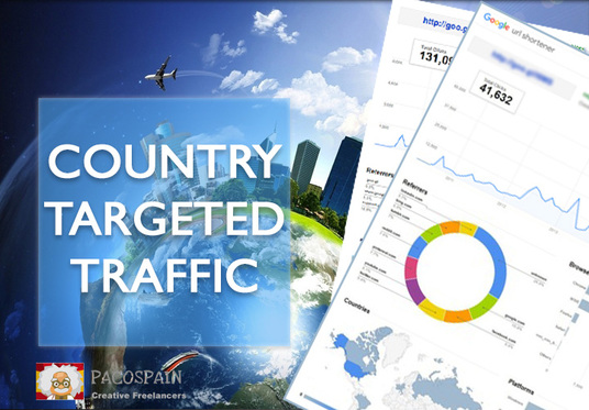 I will send Keyword and Country Targeted Monthly Website Traffic