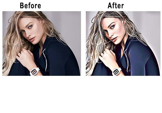 turn your photo into vector portrait, Oil Painting, sketch, cartoon, etc