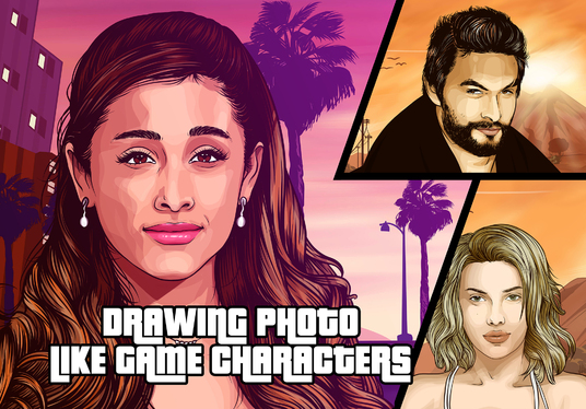 I will draw your photo like a game character