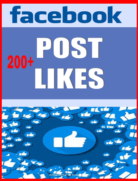 I will Provide Real 200+ Facebook Post Likes Without password