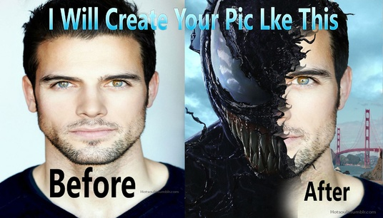 I will create your pic like venom movie pic