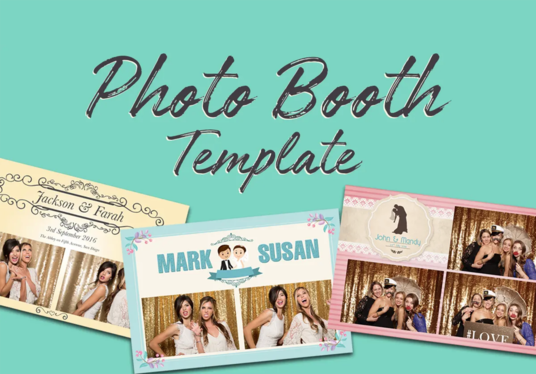 I will Design A Stylish Photo Booth Template