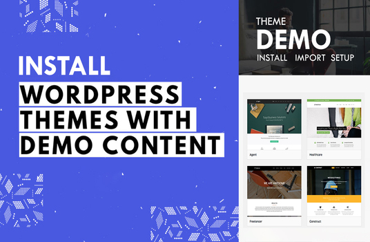 Install Wordpress Theme and Setup Theme Demo