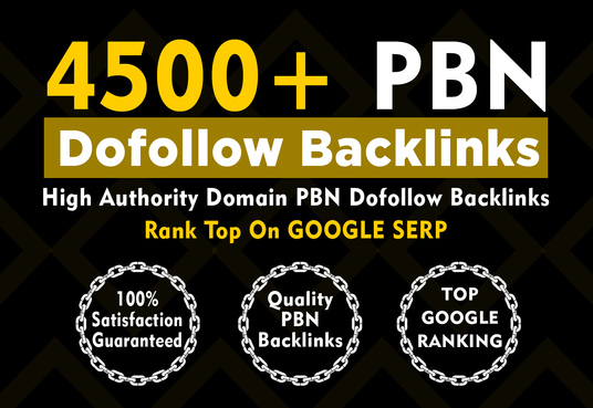I will Provide 4500+ Powerful High Metric PBN Dofolow Backlinks