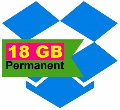 upgrade dropbox storage to 18gb for life