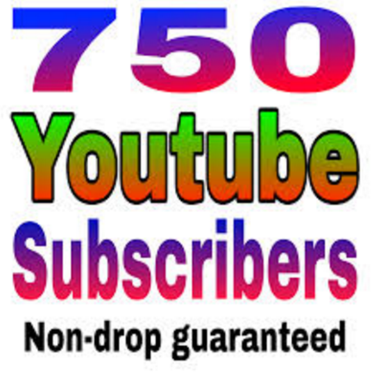 I will give you 750 Non Drop Youtube Subscriber