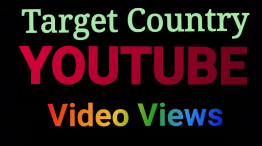 Add 3000 country Targeted  YouTube video views