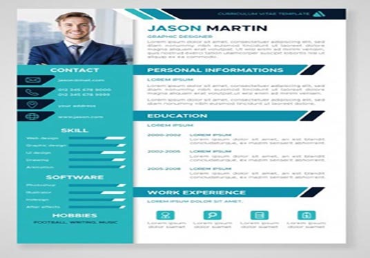 I will Design CV, Resume  and Cover Letter