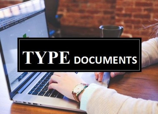 I will Type Documents in 24 Hours
