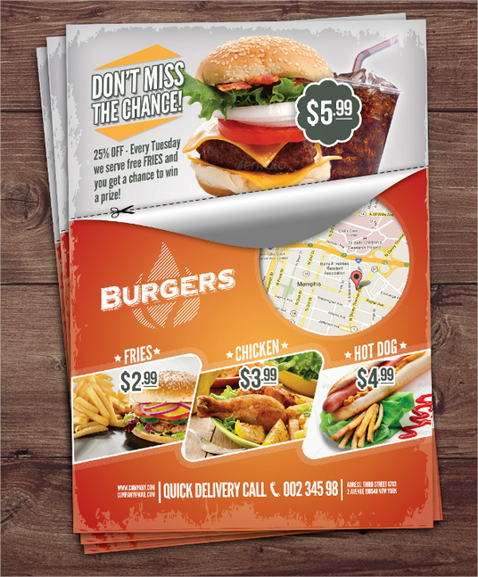 I will design a mouth watering Flyer for you at an affordable price