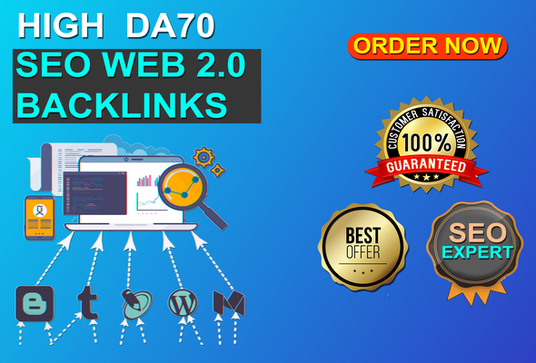 I will make 20 web 2.0 dofollow seo backlinks DA60 to 70