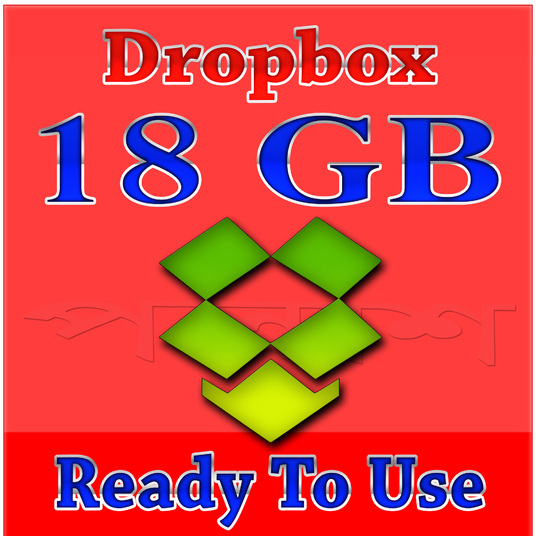 I will provide pre upgraded 18gb dropbox account (ready to use)