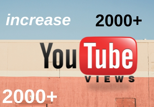 I will give you 2000 real and organic youtube views