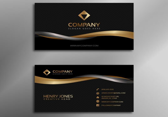 I will create awesome business card for your company and business