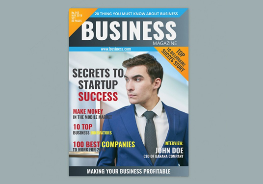 I will create awesome Magazine cover and content design for business and company