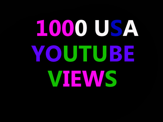 I will deliver 1000 USA YouTube Views
