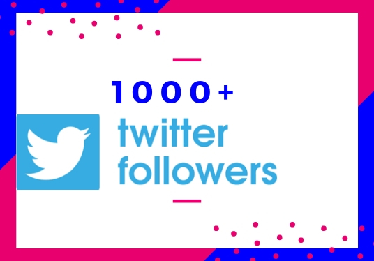 I will give 1000+ real and organic Twitter followers