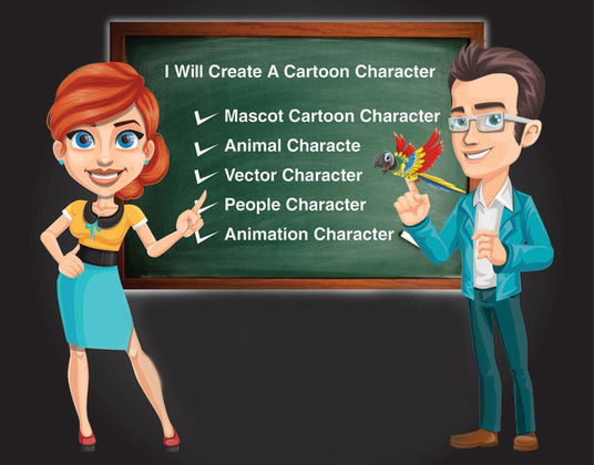 I will Draw 2d Vector Cartoon Characters