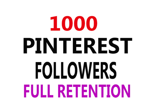 I will 1000 Pinterest Followers