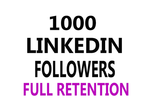 I will give 1000 Linkedin followers real and active