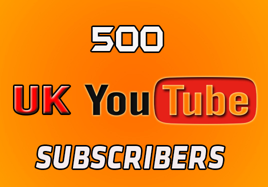 I will provide 500 UK youtube subscribers lifetime guarantee