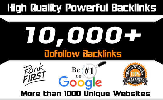 I will Provide 10,000 Do follow Backlinks To Your Website, Blog or Video