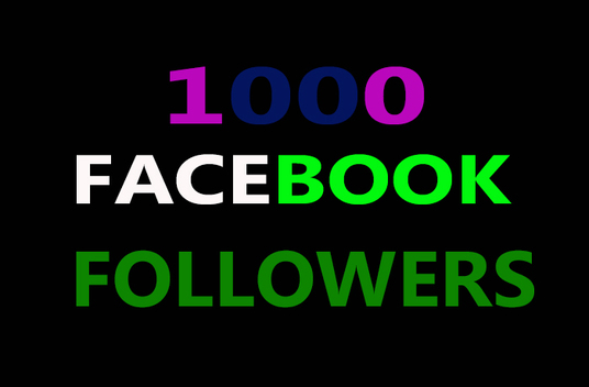I will provide 1000 facebook followers