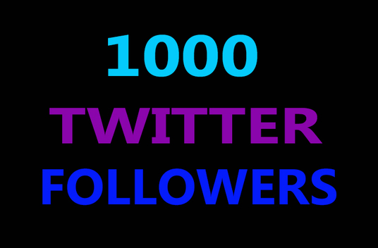 I will give you 1000+ HIGH QUALITY REAL LOOKING Twitter follower
