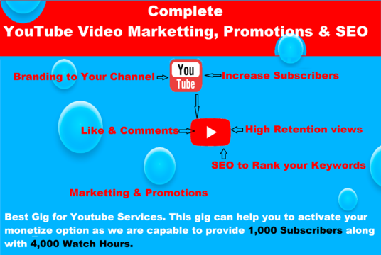 I will Provide 1000 High Retention YouTube Views with 20 custom comments to your video