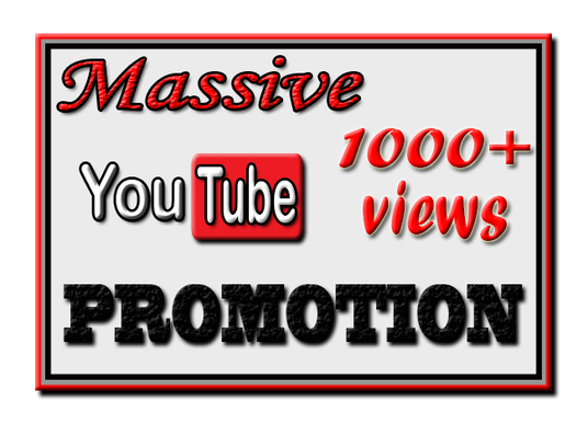 I will Do YouTube Video Promotion To Get 1000+ Real Views with Engagements