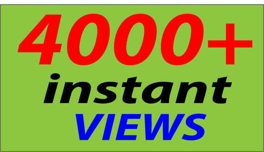I will Give 4000+ YT INSTANT VIEWS