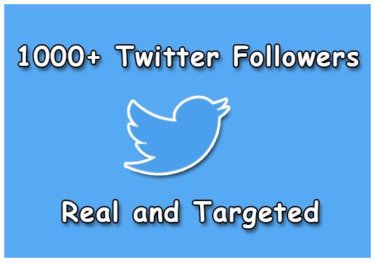 I will Give You 1000+ Twitter  Real and Targeted Followers