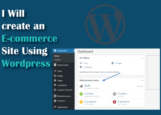 I will create wordpress ecommerce site
