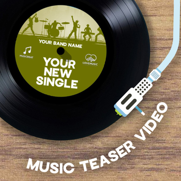 create a retro music teaser promo video on vinyl