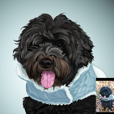 draw a pet portrait from your favorite photo to a vector image