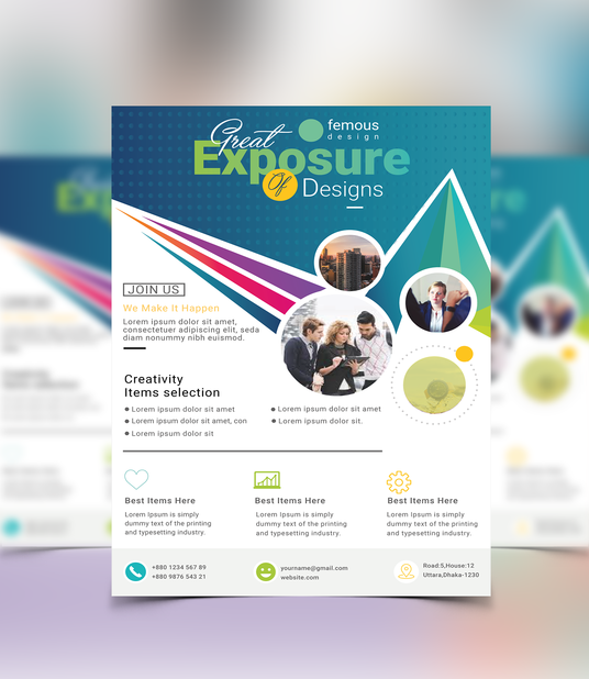 I will Design Unique And Vibrant Flyer, Or Brochure Or Poster