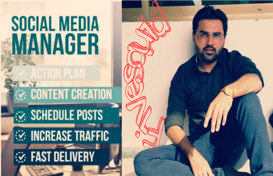 I will be your social media manager and marketer