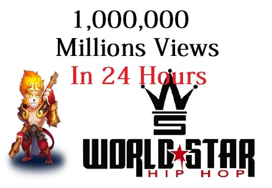 add 1,000,000 Views to your Worldstarhiphop profile