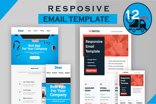 I will design responsive HTML email template