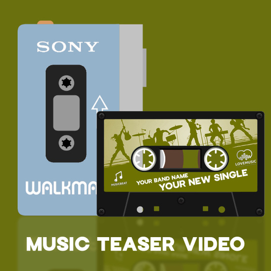 I will create a retro music teaser promo video on a walkman