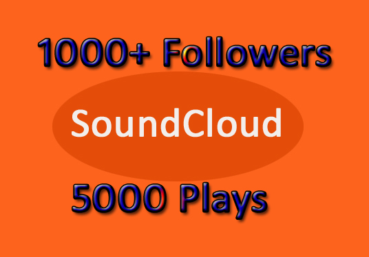 I will Provide You 1000+ SoundCloud  Followers and 5000 Plays
