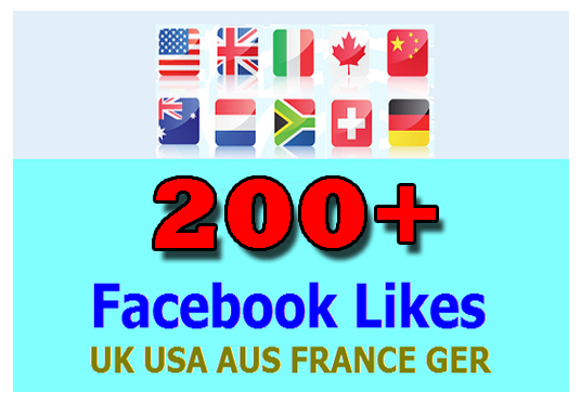 add 200 facebook page like in your page