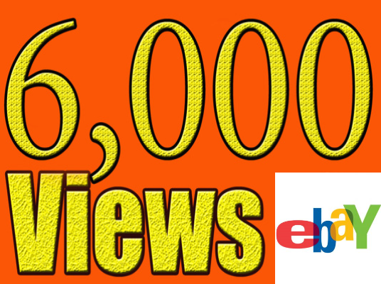 I will give you 6000 views on your ebay listing