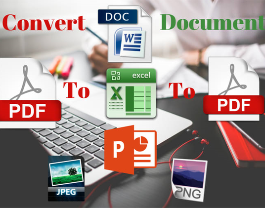 I will convert pdf to word,word to pdf,image to word,image to notepad and excel