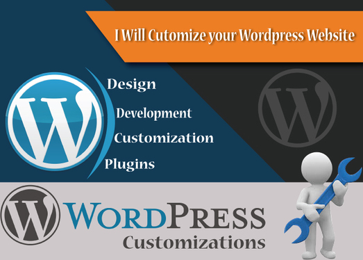 create and customize your wordpress website