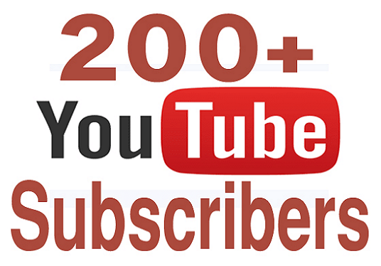 I will add 200+ youtube subscribers