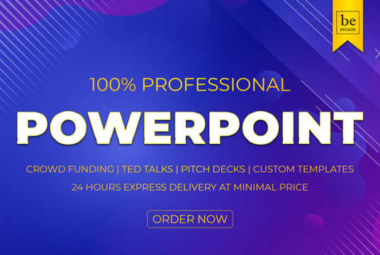Design Professional Animated PowerPoint Presentation