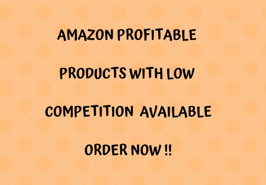 I will do Amazon profitable product research