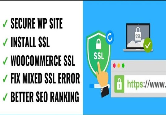 I will install an SSL certificate to secure your  website